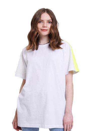 Mizalle Youth Tişört Beyaz
